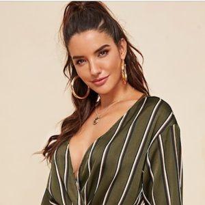 Shein long sleeve blouse